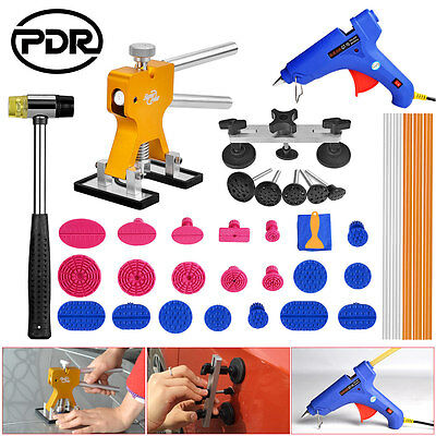 36pc PDR Dent Lifter Paintless Dent Repair Removal Tools Tap Down Glue Gun Tabs