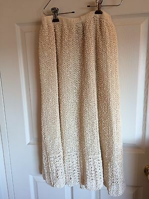 Vintage Pallas 100% Hand Loomed Irish Linen Ladies Lined Skirt Size L