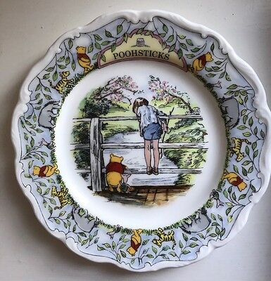 Royal Doulton winnie the pooh plate-Poohsticks