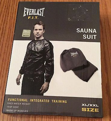 Black Everlast Fit Training Sauna Suit Size XL/XXL F. I. T. NEW