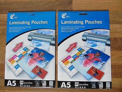 A5 Gloss Laminating Pouches x 20 - 140 or 160 Micron