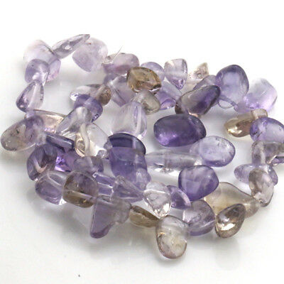 8-15mm Natural Ametrine Freeform faceted Gemstone loose Beads jewelry 15.5""