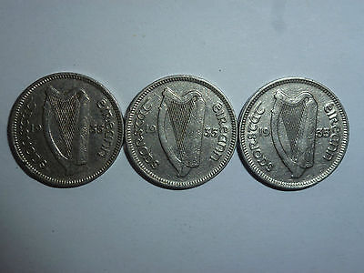 Irish Eire Ireland Threepence coins - choose your coin and year - 1928 to 1968