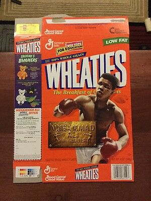 Muhammad Ali 12 oz. Wheaties Cereal Box Unused And Great Condition