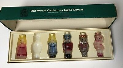 Old World Christmas Glass Light Covers Nutcracker Suite Set 5 Tree Ornaments