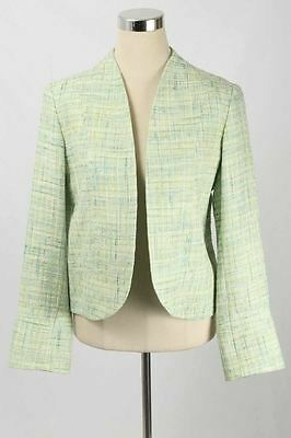 Holly Robinson Peete Maternity Size M Green Tweed Collarless Blazer 2157 T317