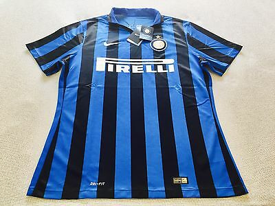"""INTER"" CAMISETA JERSEY MAGLIA ""PLAYER ISSUE"" 2015/2016 Nike FÚTBOL - size ""XL""."