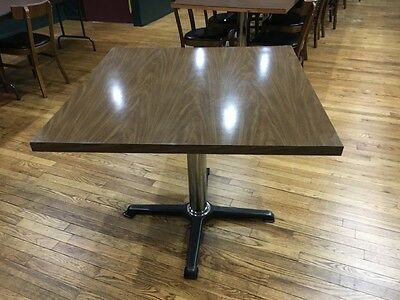 """Lot of 19 Restaurant Tables 36""""X36"""" Laminate Table Tops 30"""" Bases"""
