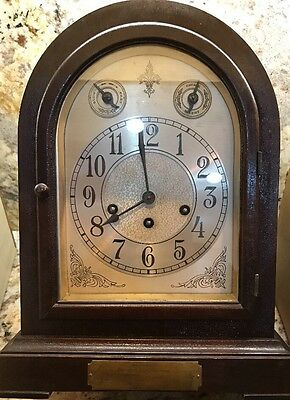 CIRCA 1920 SETH THOMAS #? CASED MANTEL CLOCK Working Amazing