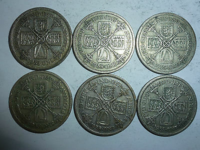 King George V Florin coins 1912 to1936 - your choice of year