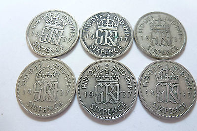 King George VI Lucky Sixpence 1937-1951 Choose your year