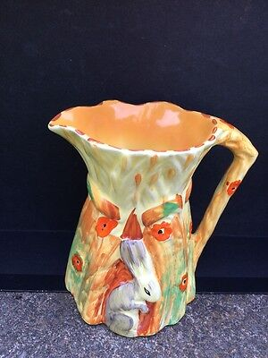 Burleigh Ware, Burgess and Leigh Art Deco 14cm Jug with Rabbit relief 5063