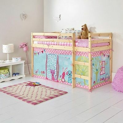 Under bed tent girls  Creature Friends Tent Shorty Single Mid Sleeper Bed Frame
