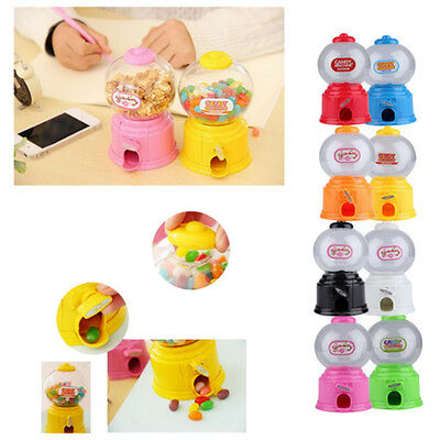 Cute Sweets Mini Candy Machine Bubble Gumball Dispenser Coin Bank Kids Toy N1H7