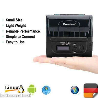 80MM Bluetooth Wireless Thermodrucker Kassendrucker Bondrucker Receipt Printer