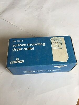 Leviton 30 Amp 3-Pole, 3-Wire 125 / 250 V Surface Mount Power Outlet 5054-2