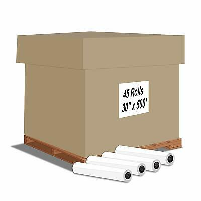 "Alliance Bond Engineering Rolls, 30"" x 500' x 3"" Untaped 20lb 45 Rolls"