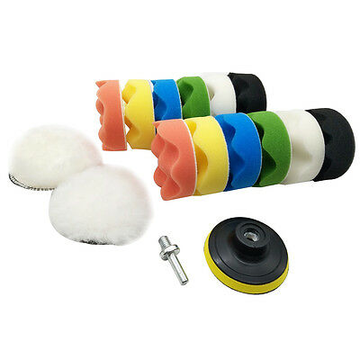 4 inch Polishing Buffing Pad Auto Car Polishers and Buffers Wax Set Pack Of F7W3
