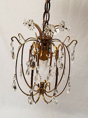 Vintage Brass and Crystal Chandelier by GLOBE lighting products