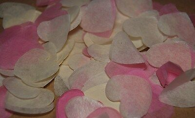 PINK & WHITE Biodegradable Wedding Confetti - Hand made in the UK - Cones?  FUN