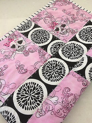 NEW Handmade Baby Blanket/Quilt for Pram, Car, Kick mat Sugar Skulls