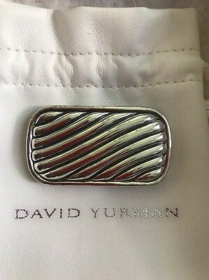 "DAVID YURMAN Sterling Silver Ribbed Oblong Money Clip-1""x2"""