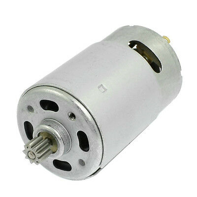 DC 18V 9 Teeth Shank Gear Motor Replacement for Rechargeable Electric Drill I8S5