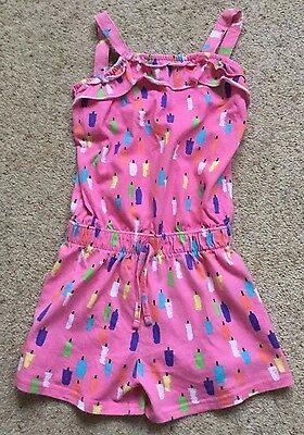 Girls Strappy Jumpsuit From Nutmeg  Age 5-6 Years  Ex Cond