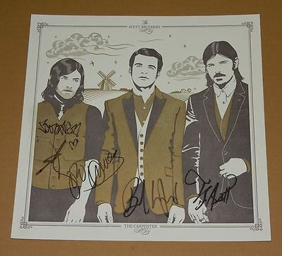 The Avett Brothers The Carpenter Signed Autographed Lithograph Print RARE New