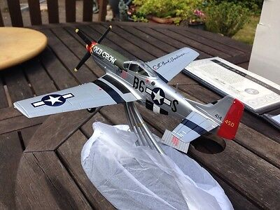 Franklin Mint Signiture Edition P 51D Mustang Hand Signed By WW2 Fighter Ace