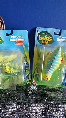 """hungry heimlich 5"""" die cast mini bug 2"""" a bugs life pixar CARDS BUBBLE POOR RIPS"""