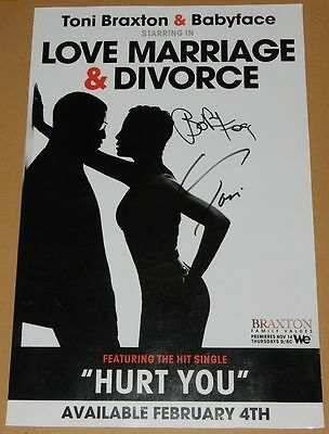 "Toni Braxton Babyface Love, Marriage & Divorce Signed Autographed 11x17"" Poster"