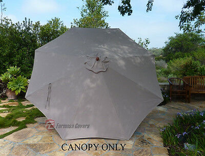 11ft Patio Garden Market Umbrella Replacement Canopy Cover - Taupe (Cover Only)