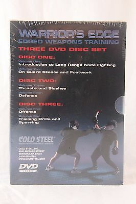 New Cold Steel 3 Disc DVD: Warrior's Edge EDGED WEAPONS TRAINING   #VDWEP
