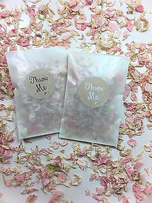 Natural Wedding Confetti Biodegradable Delphinium Petals Glassine Bags/ Stickers