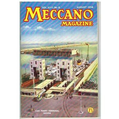 Meccano Magazine August 1958 No8 MBox2574 Car Ferry Terminal Dover