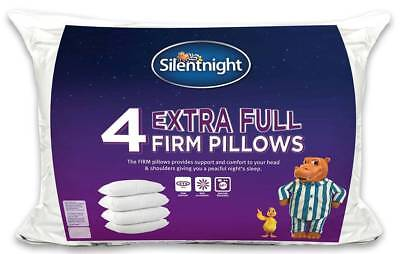 Pack of 4 Silentnight Pillows With Free Pillow Protectors