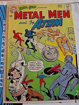 The Brave and the Bold #55 (Aug-Sep 1964, DC) FN Metal Men & The Atom