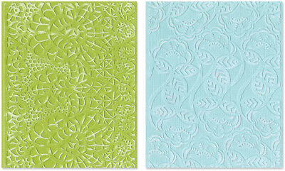 Sizzix Textured Impressions A2 Embossing Folders 2/Pkg Bohemian Lace 657811