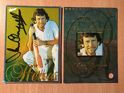 Ian Chappell 98/99 Select Cricket Heroes Signature Card HS2 #86/150