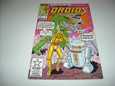 Star Wars Droids #1 Comic Book Marvel 1986 Star Wars Cartoon C3P0 R2-D2 Romita
