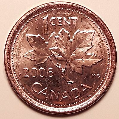 Extremely RARE 2006 Magnetic No Logo, No P, Canadian Small Cent