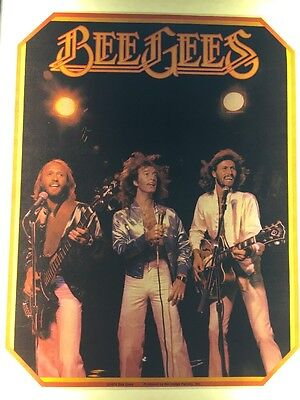 Vintage Iron On Transfer 1978 Bee Gees Classic in Concert
