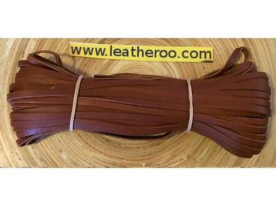 "Kangaroo Lace WHISKEY Kangaroo Leather Lacing 4.7mm (3/16"") Width 10 m hank"