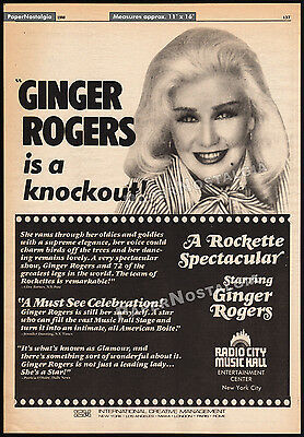 GINGER ROGERS__Original 1980 Trade AD promo / poster__RADIO CITY MUSIC HALL