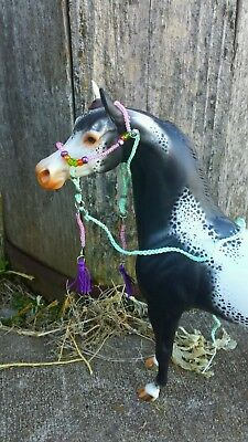 Breyer  Peter Stone horse custom Arabian halter lead beads