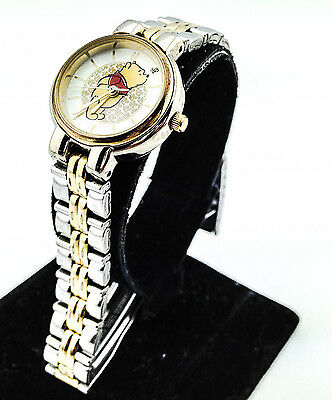Timex Disney Winnie the Pooh Silver Gold Tone Classic Watch New Battery No Clasp