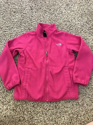 The North Face Girls Hot Pink Zip Up Fleece Jacket Size M 10 12