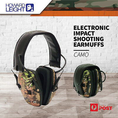 Howard Leight Electronic Impact Shooting Hunting Earmuffs Ear Muff Advanced Camo