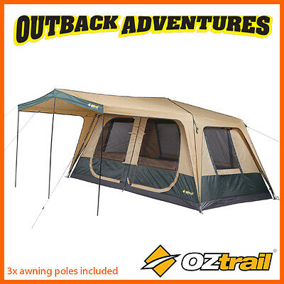 Oztrail Fast Frame Cruiser 420 Cabin Instant Up Quick Pitch 8 Person Tent 2016